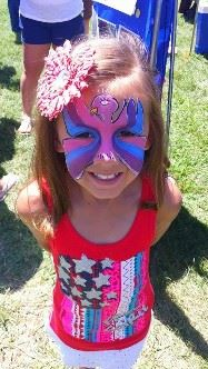 4th of July image face painting