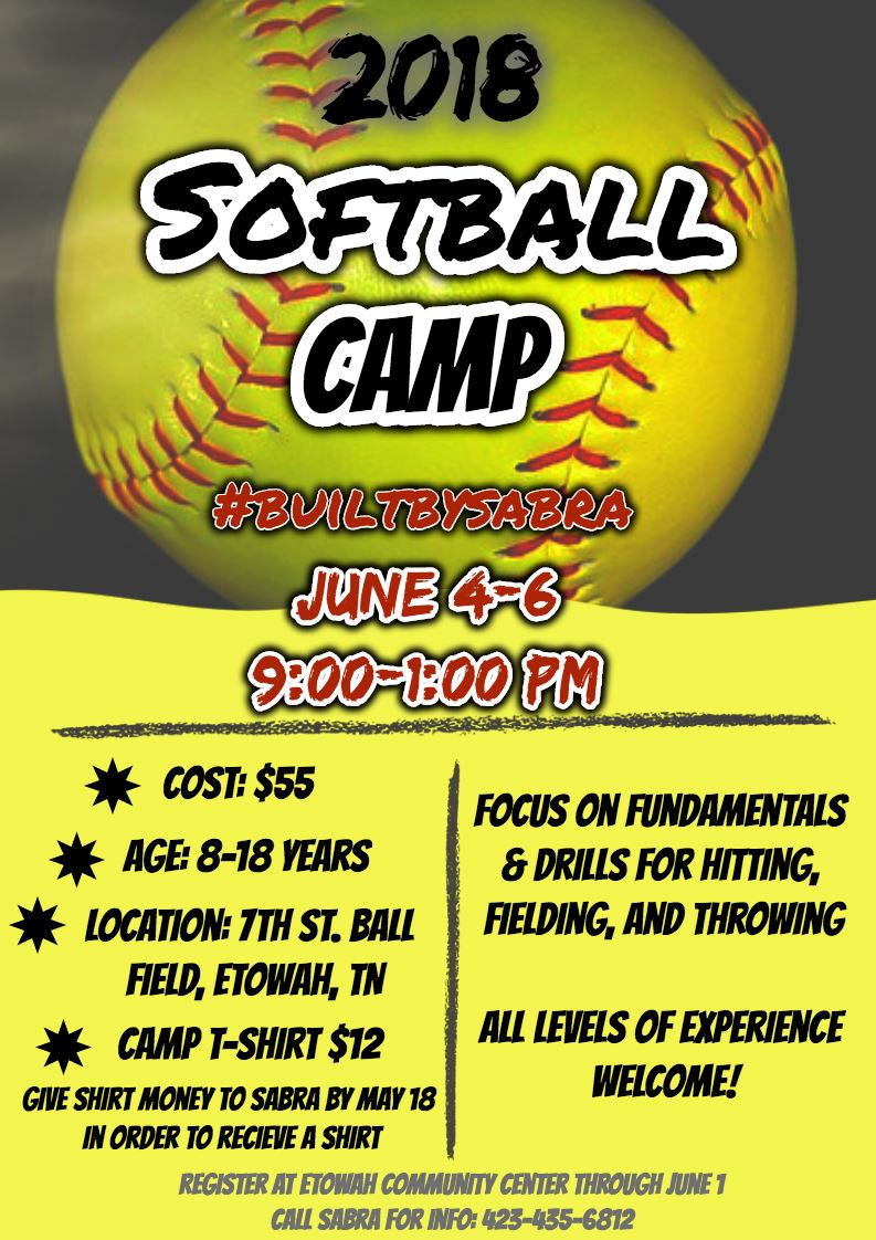 Softball Camp Flyer