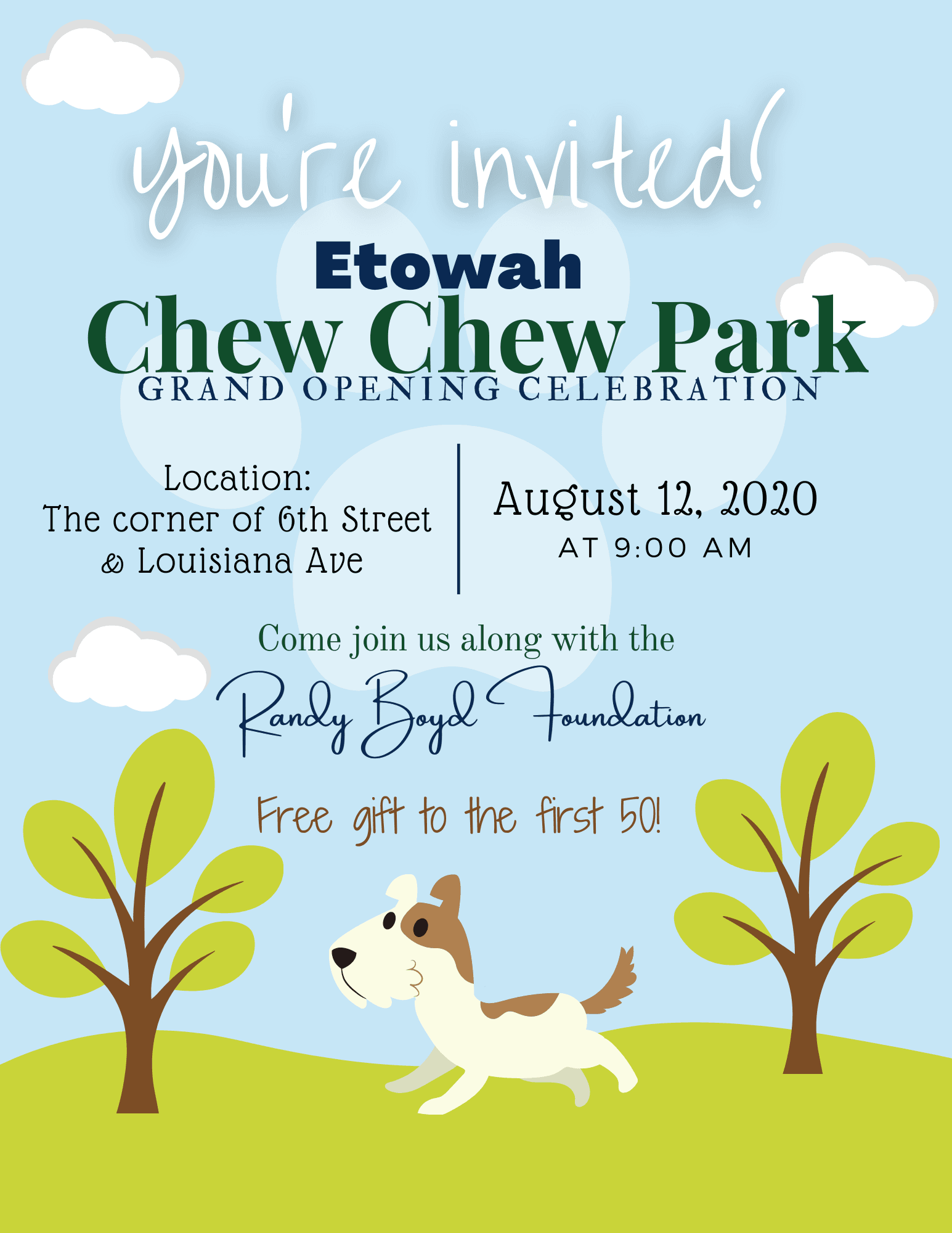Chew Chew Park Invitation
